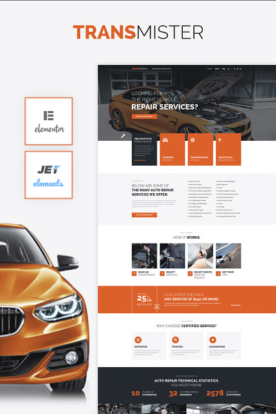 Transmitter - Car Repair WordPress Theme #65975