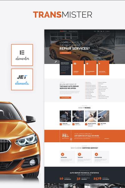 Tema De WordPress #65975 para Sitio de  para Sitio de Reparación de coches
