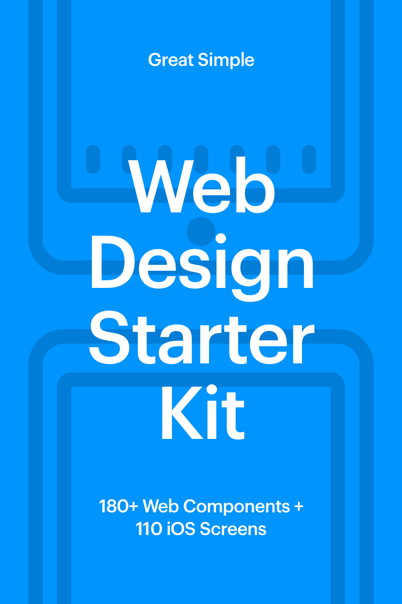 """Web Design Starter Kit"" UI Elementen №65970"