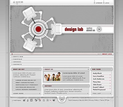 Шаблон сайта на Flash (6618)