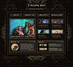 Flash: Web Design Art & Photography Flash Site Black Templates