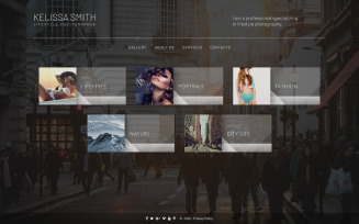 Kelissa Smith - Photographer Portfolio Website Template