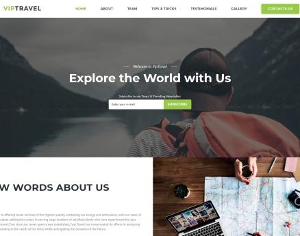 VIPTravel - Travel Agency HTML5 Landing Page Template