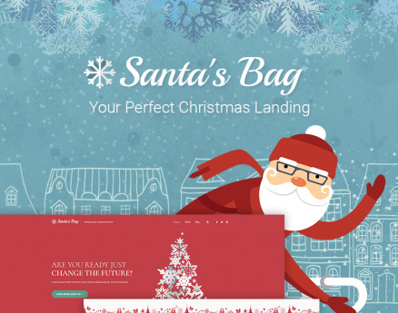 Santa's Bag - Christmas Landing WordPress Theme
