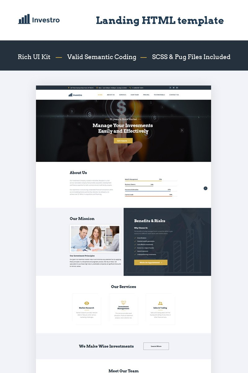 Business landing page template 66028 for Jquery landing page templates