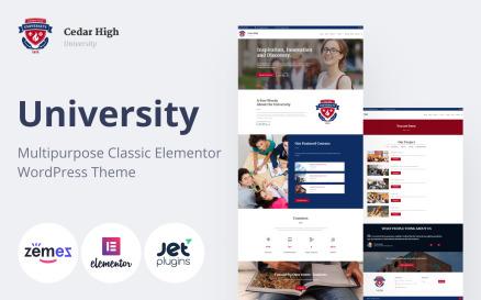 Cedar High - University WordPress Theme