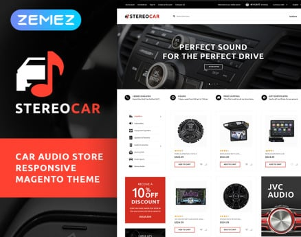 StereoCar - Car Audio Store Magento Theme
