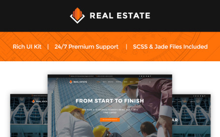 Real Estate - Construction Company Website Template