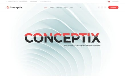 Conceptix - Art Studio WordPress Theme