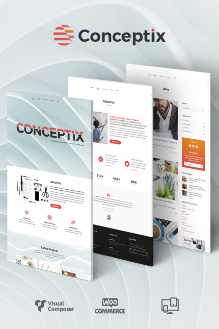 Conceptix Art Studio WordPress Theme