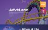 """Adveland Amusement Park"" Responsive WordPress thema New Screenshots BIG"