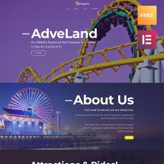 Free templates themes templatemonster adveland amusement park responsive wordpress theme 66076 free pronofoot35fo Gallery