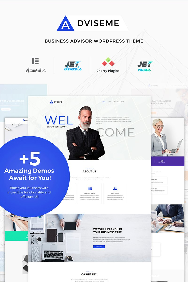 """Adviseme - Business Advisor"" thème WordPress  #66036 - screenshot"