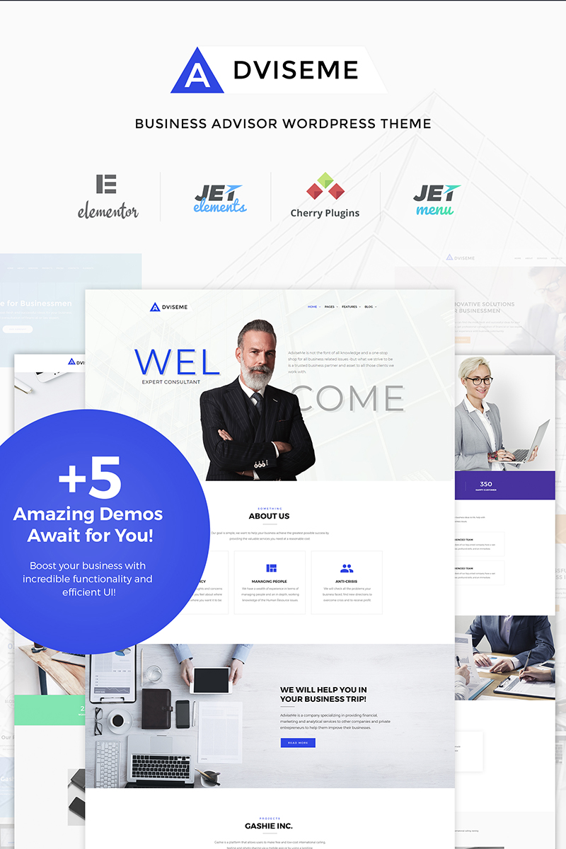 Adviseme - Business Advisor WordPress Theme - screenshot