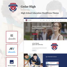cedar high university wpml ready wordpress template