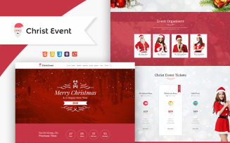 Christ Event - Christmas Party HTML Landing Page Template