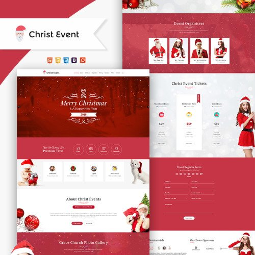 Christ Event - Christmas Party HTML - Website Template based on Bootstrap
