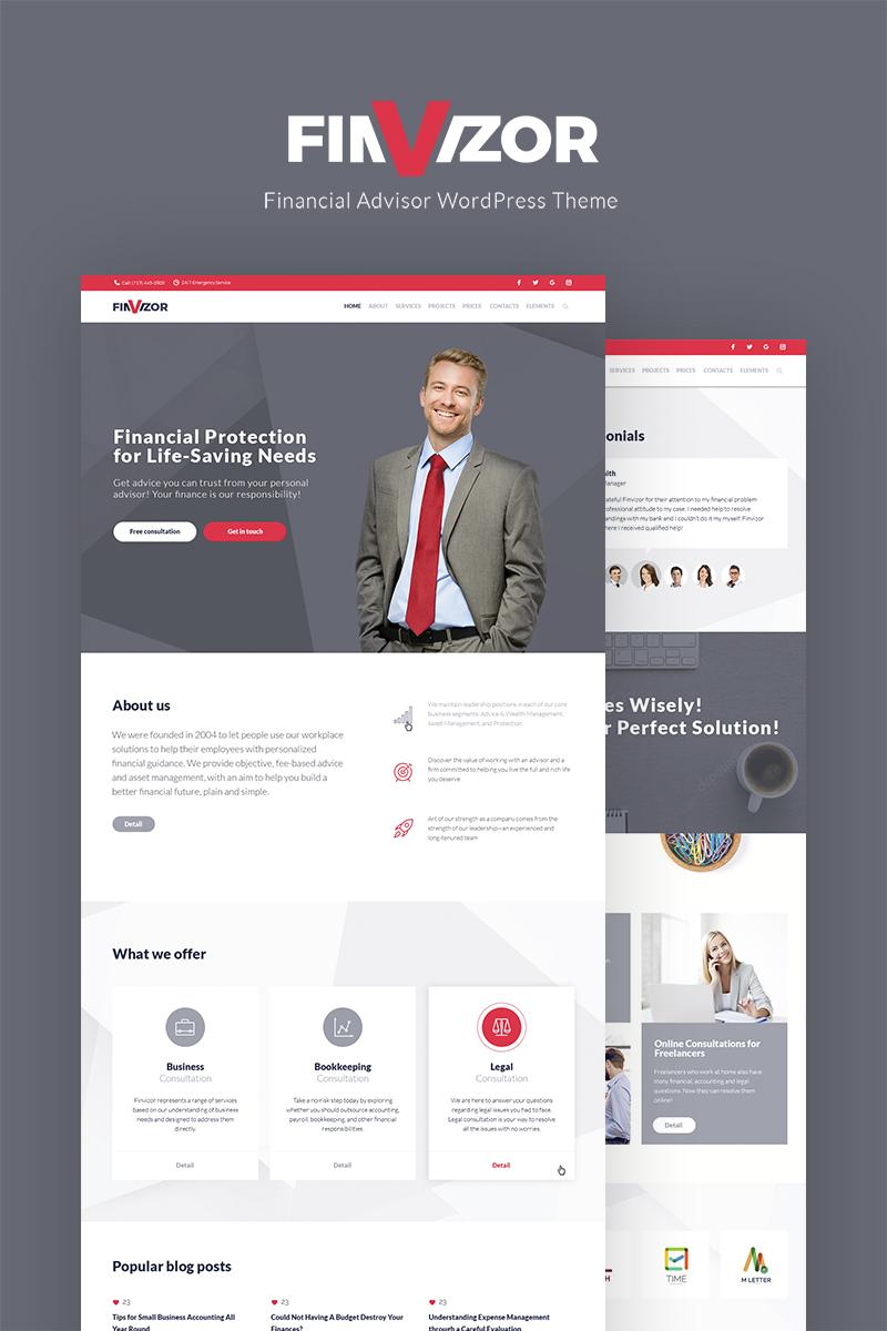FinVisor Business Consultant WordPress Theme - screenshot