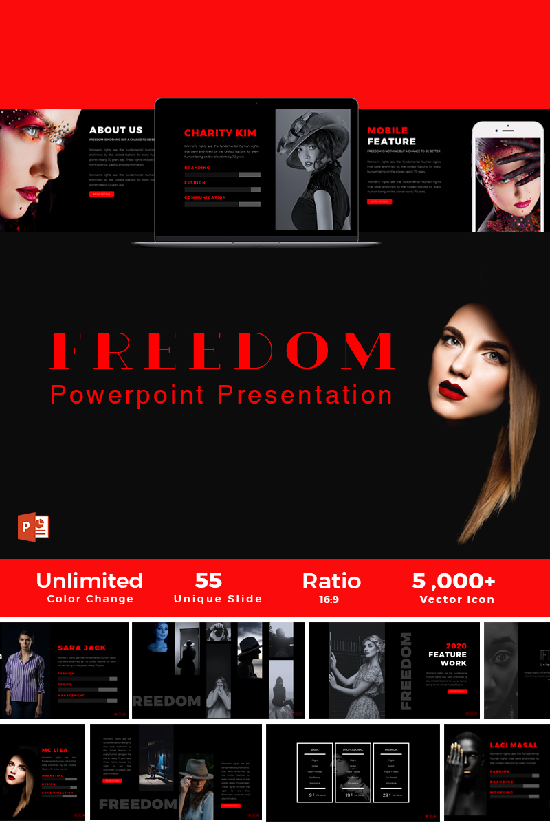 Freedom Presentation PowerPoint Template