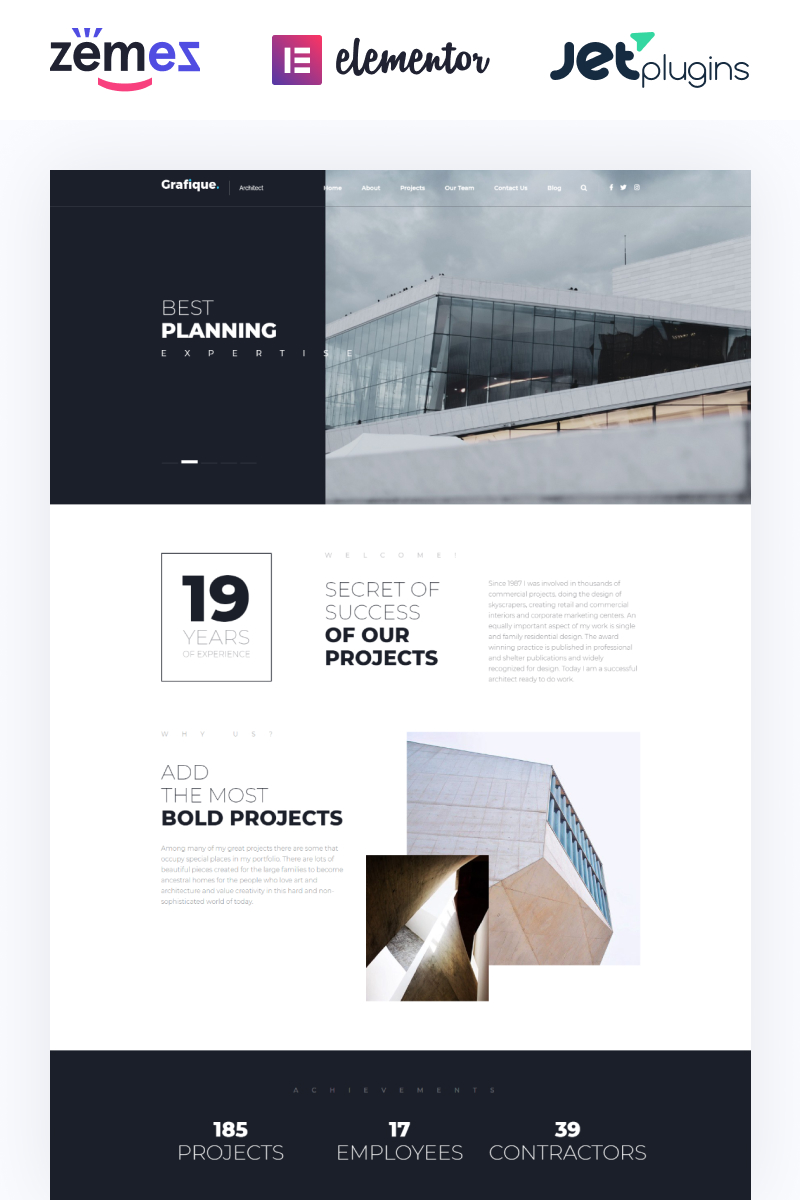 """Grafique - Architect"" Responsive WordPress thema №66049"