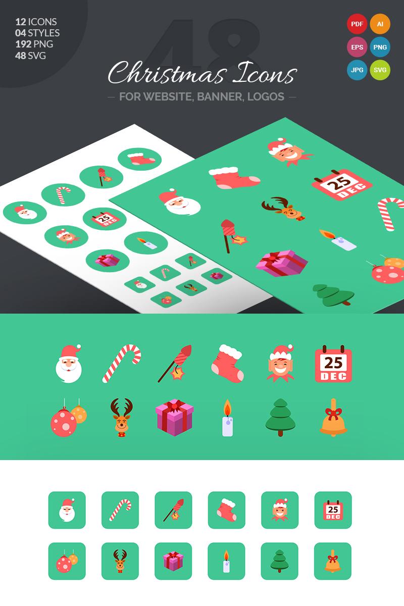 Icon-Sammlungen Vorlage #66061 für Weihnachten