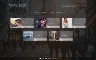 Kelissa Smith - Photographer Portfolio Website Template