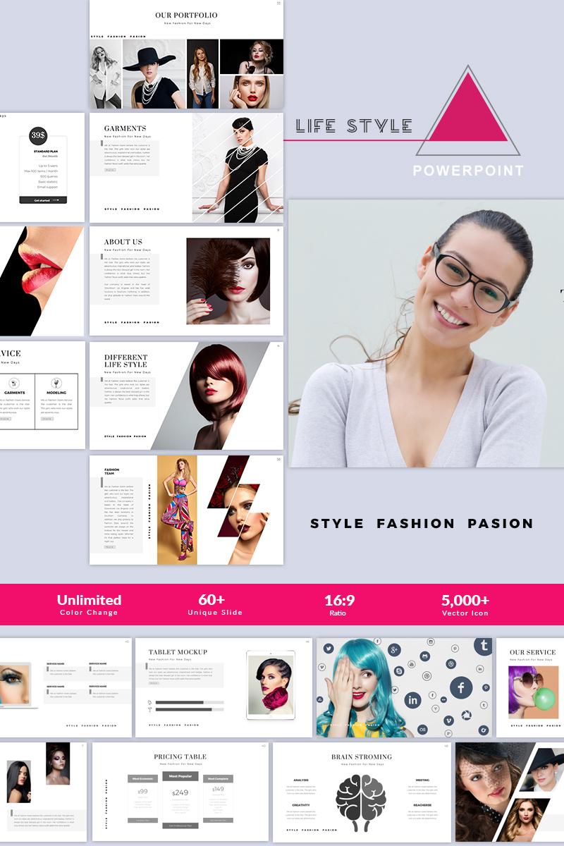Life Style Presentation PowerPoint Template - screenshot