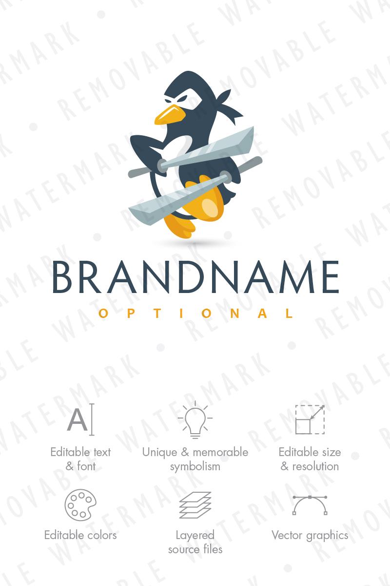 ninja penguin logo template 66082