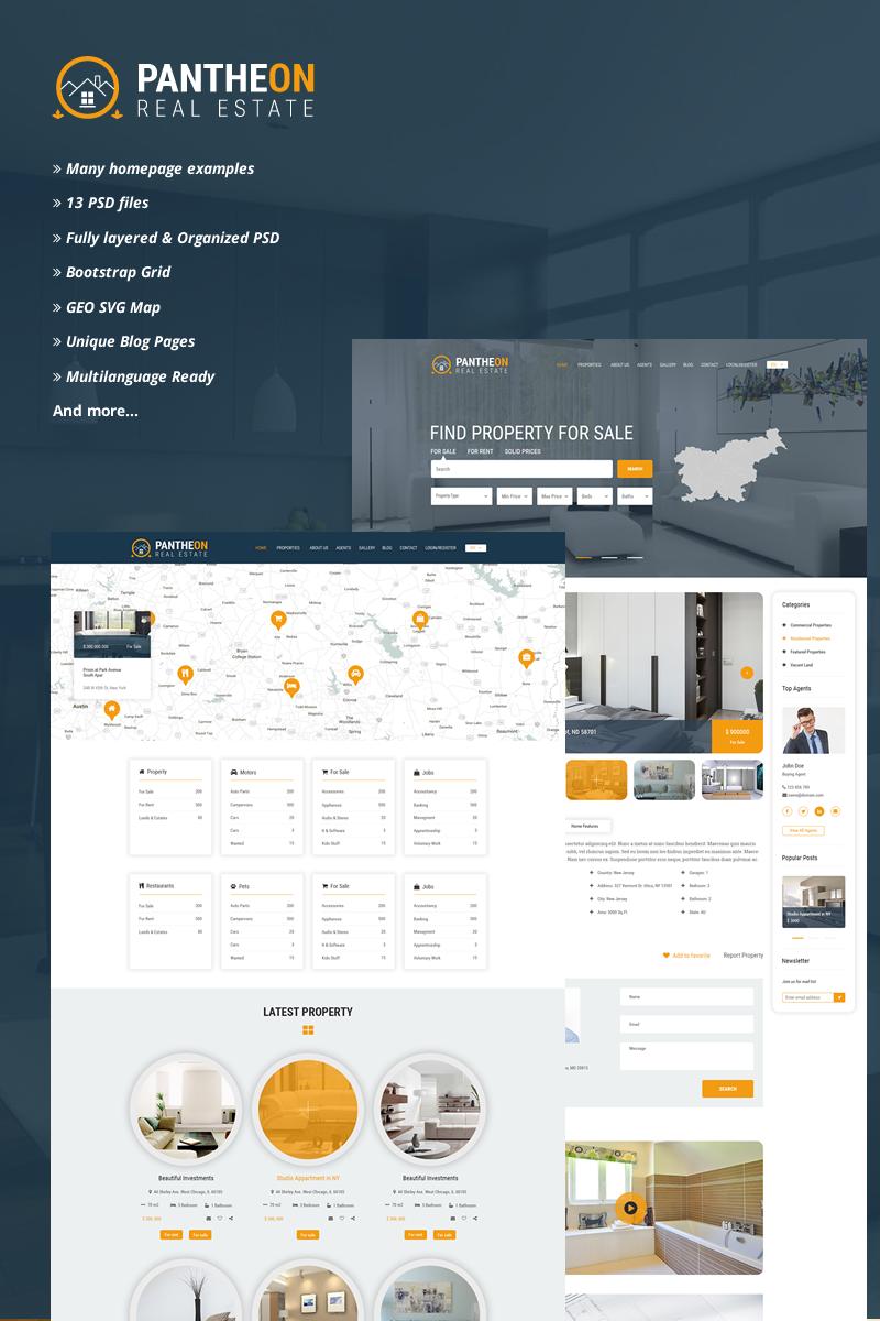 Pantheon Real Estate Directory PSD Template