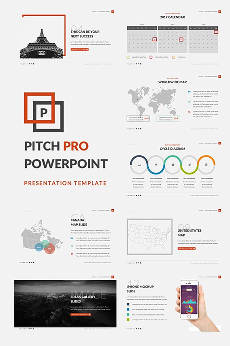 PowerPoint Vorlage #66025 für Business Services