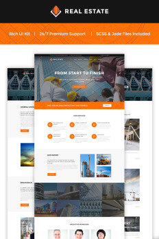 construction websites templates