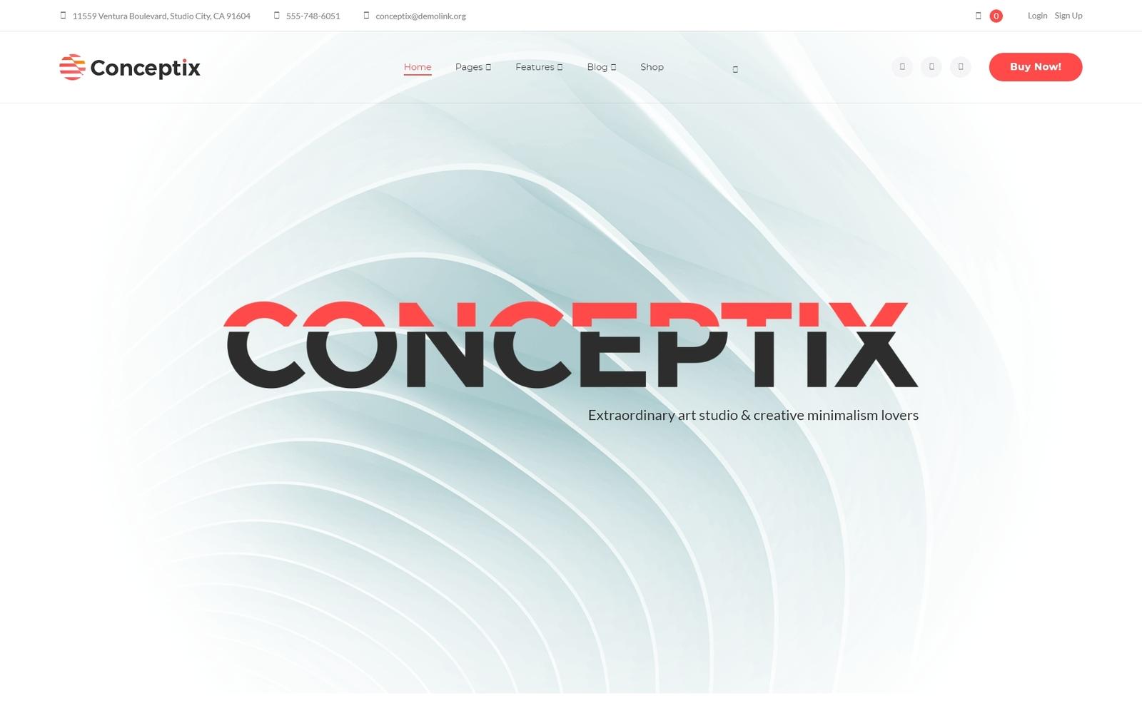 Reszponzív Conceptix - Art Studio WordPress sablon 66065