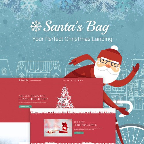 Santa's Bag - Christmas Landing - HTML5 WordPress Template