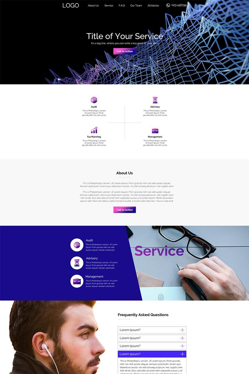 "Tema PSD #66045 ""Consulting/Service"" - screenshot"
