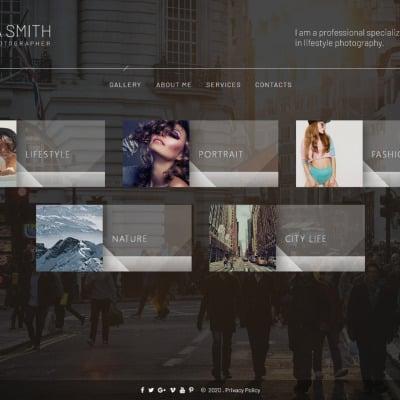 "Tema Siti Web Responsive #66006 ""Kelissa Smith - Photographer Portfolio"" #66006"