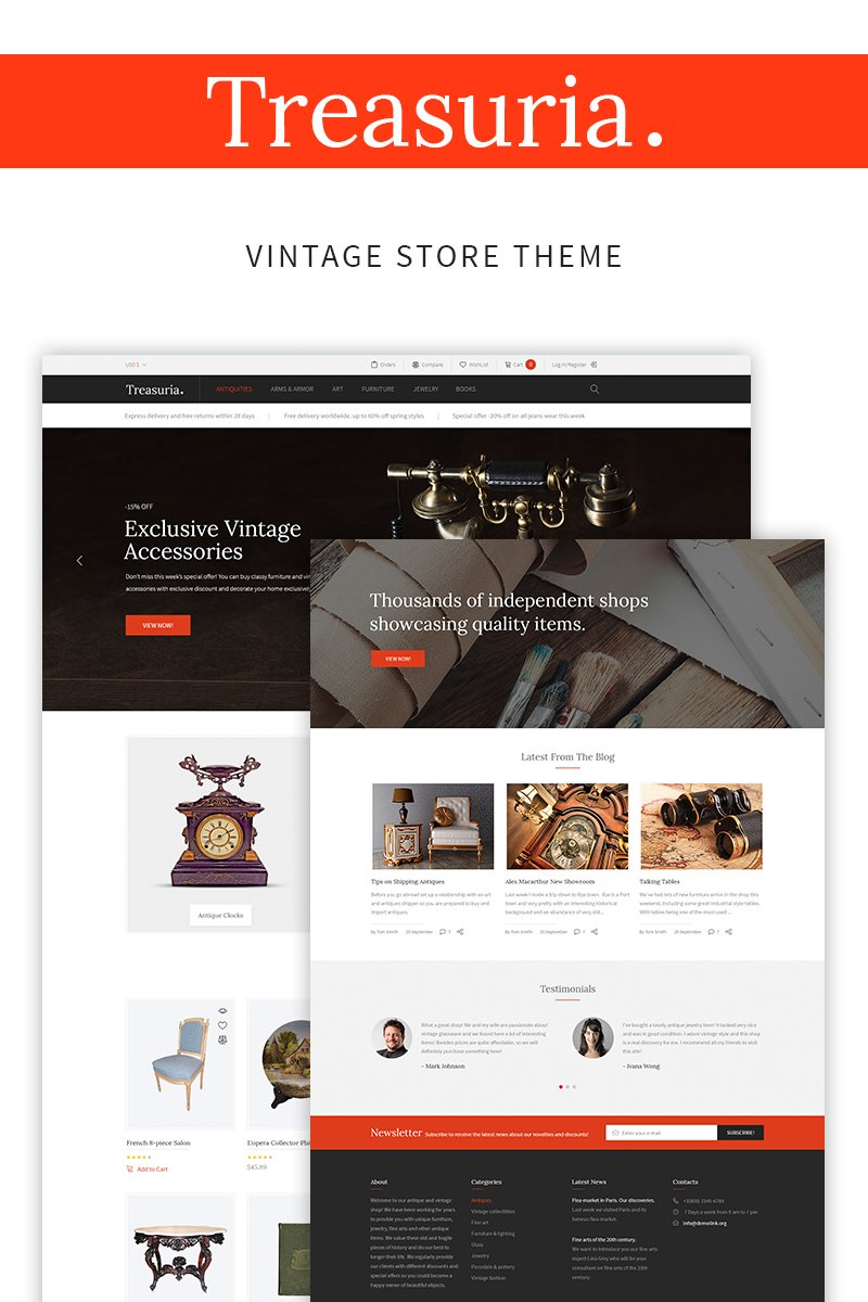 Treasuria - Antique & Vintage WooCommerce Theme