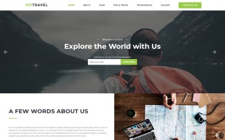 VIPTravel - Travel Agency HTML5 Landing Page Template