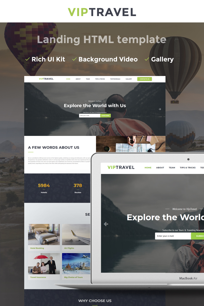 VIPTravel - Travel Agency HTML5 Landing Page Template - screenshot