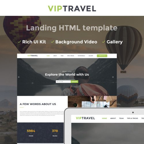 VIPTravel - Travel Agency HTML5 - Landing Page Template based on Bootstrap