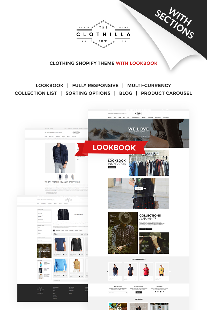 Website Design Shopify Fashion Clothing Custom Website Design - Shopify custom page template