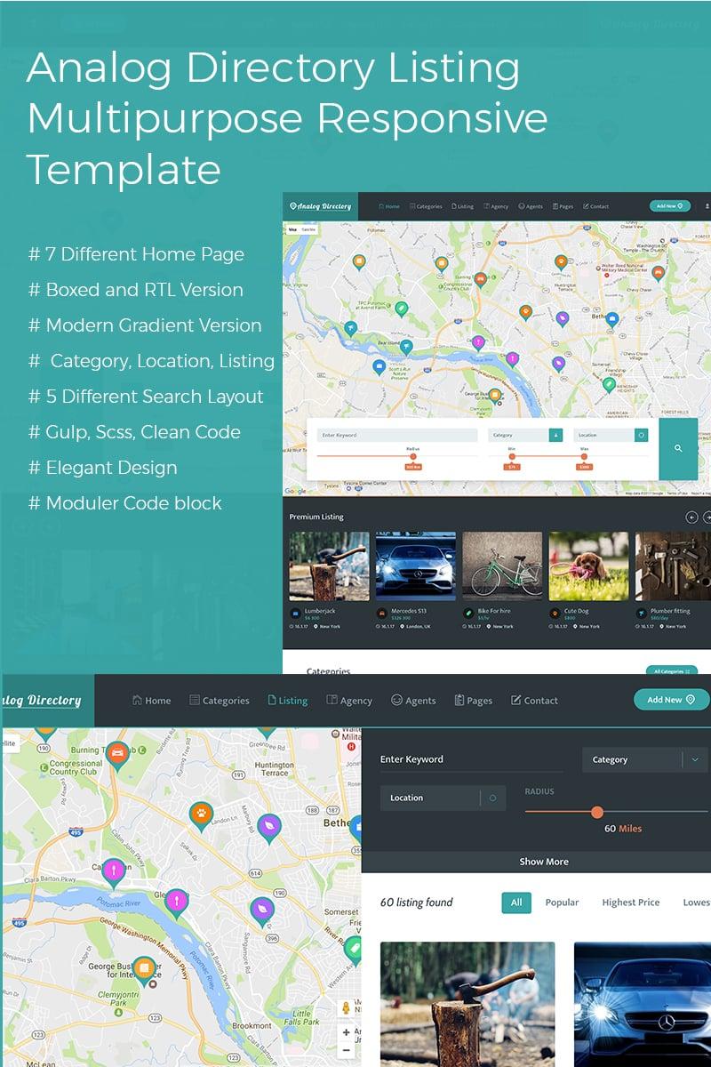Analog Directory Listing Multipurpose Responsive  + RTL Website Template - screenshot