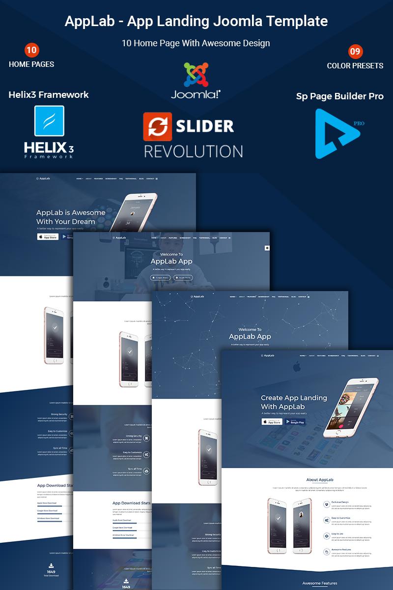 Applab - App Landing Joomla Template - screenshot