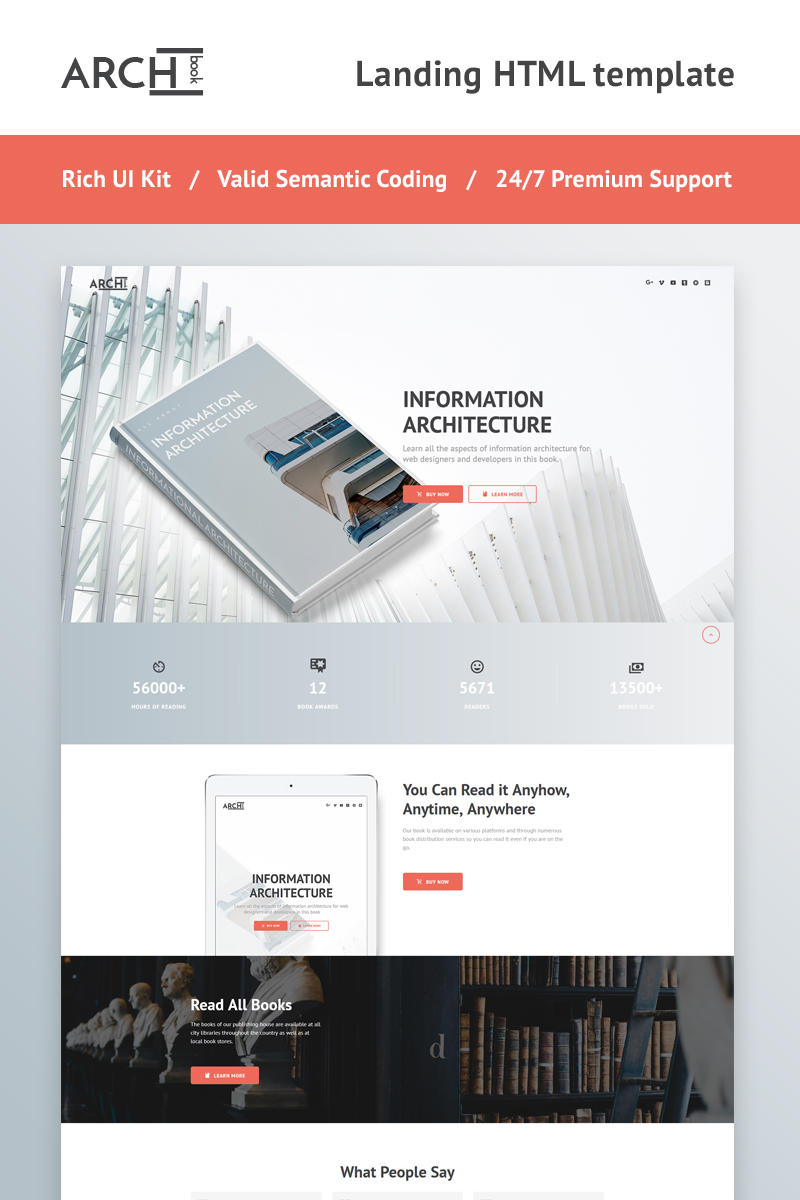 Archbook - Responsive Landing Page Template