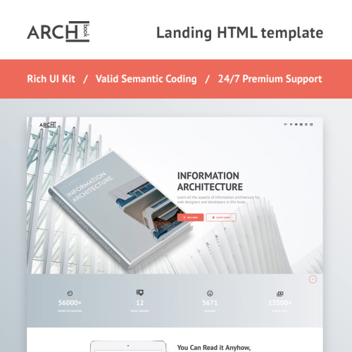Archbook - Responsive - Landing Page Template based on Bootstrap