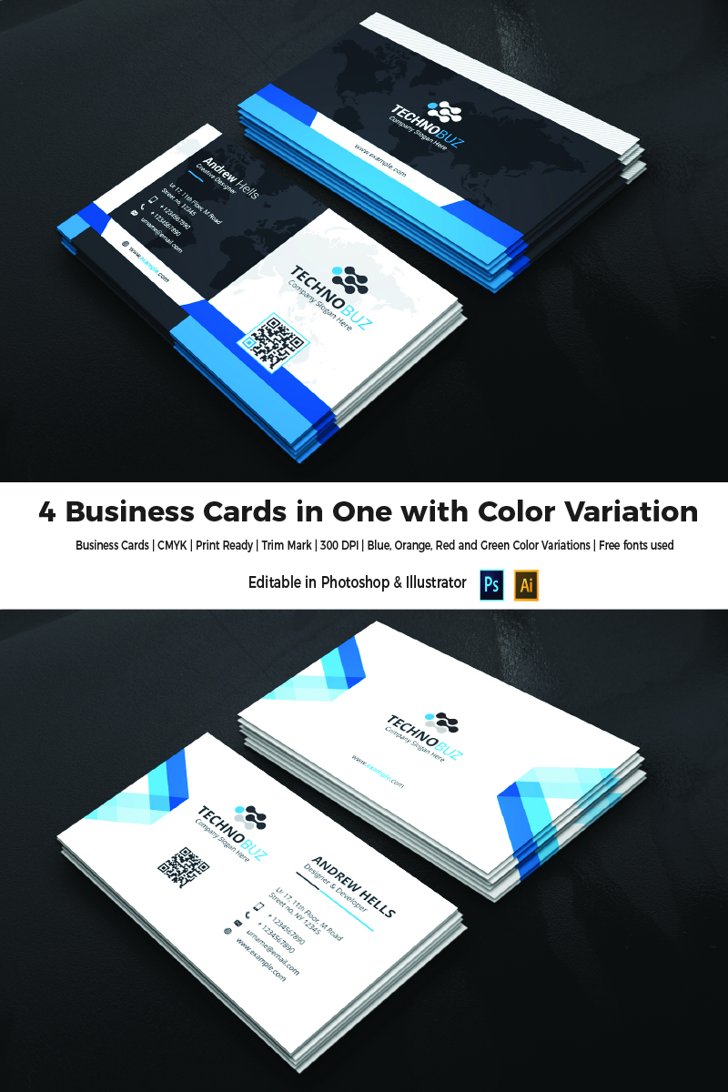 4 color business cards online choice image card design and card 4 business cards in one corporate identity template 66104 4 business cards in one corporate identity magicingreecefo Gallery