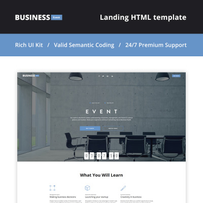event planner bootstrap themes templatemonster