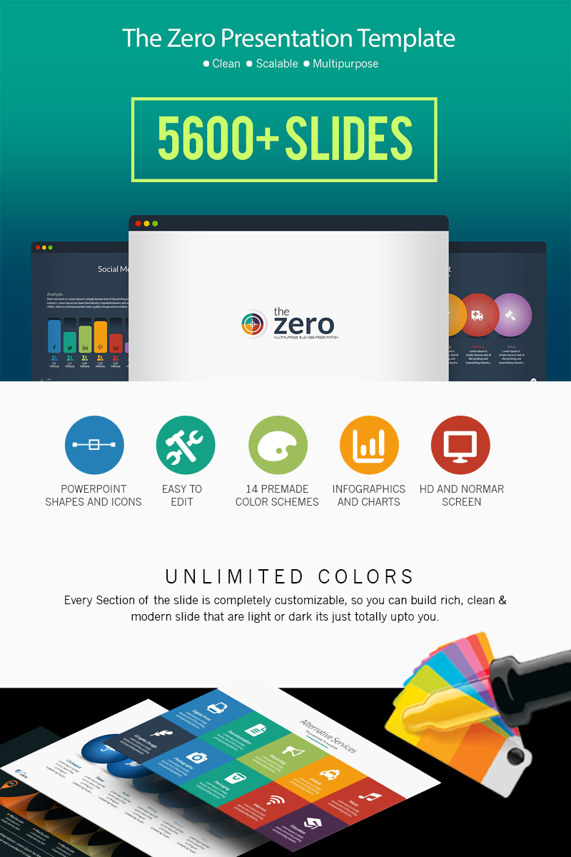 """Business Infographic Presentation -"" Premium PowerPoint Template №66111"