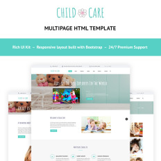 Premium templates pemium website templates child care day care pronofoot35fo Choice Image
