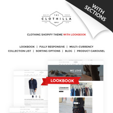 Responsive shopify themes templatemonster clothilla clothing store bootstrap shopify template pronofoot35fo Images