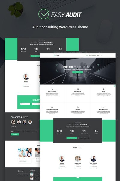 EasyAudit Auditing WordPress Theme #66145